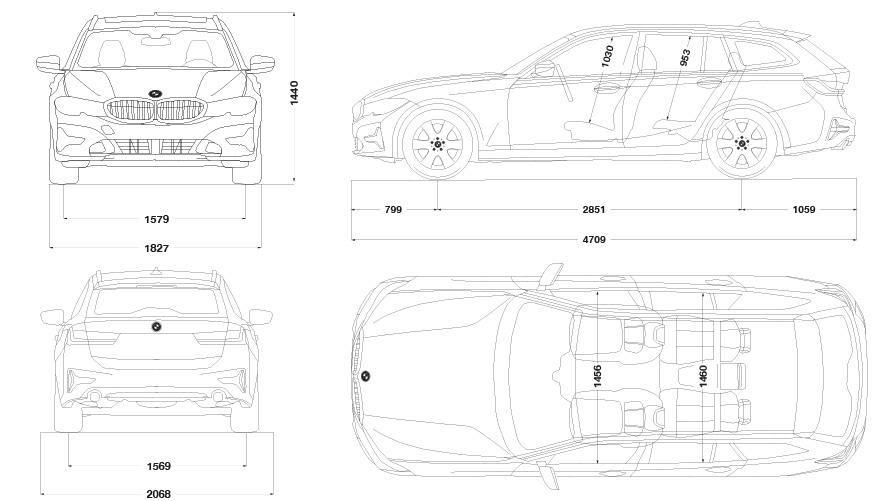 Technische Daten BMW 3er Touring