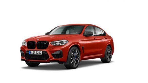 BMW X4 M Competition F98 LCI Facelift 2021 Sao Paulo Gelb Dreiviertel-Frontansicht