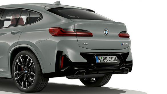 BMW X4 G02 Brooklyn Grau Nahaufnahme Heckdesign 2021