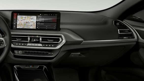 BMW X4 M Competition F98 LCI Facelift 2021 Interieurleisten 'Carbon Fibre' Innenraum